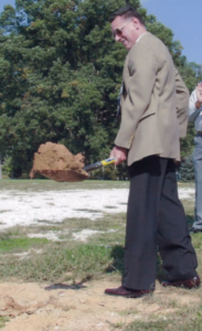 Pastor Roy Waldroup at the ground-breaking ceremony for the new Sanctuary at Fletcher First Baptist Church